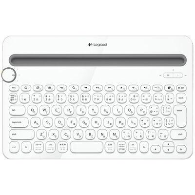 Bluetooth マルチデバイスキーボード ホワイト K480WH