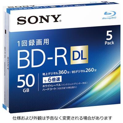 ビデオ用BD-R 追記型 片面2層50GB 6倍速 ホワイトワイドプリンタブル 5枚パック 5BNR2VJPS6