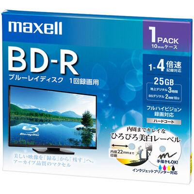 録画用 BD-R 標準130分 4倍速 ワイドプリンタブルホワイト 1枚パック BRV25WPE.1J