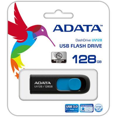 USBフラッシュメモリ UV128シリーズ 128GB ブラック/ブルー USB3.2対応 AUV128-128G-RBE