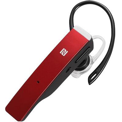 Bluetooth4.1対応 2マイクヘッドセット メタルアンテナ搭載&NFC対応モデル レッド BSHSBE500RD