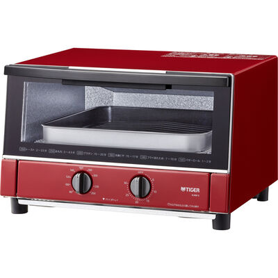 オーブントースター <やきたて> グロスレッド KAM-S130RG