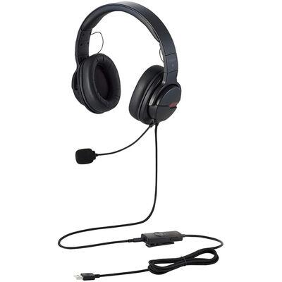 ゲーミングヘッドセット/ARMA/オーバーヘッド/バーチャルサラウンドアダプタ付/ブラック HS-ARMA200VBK