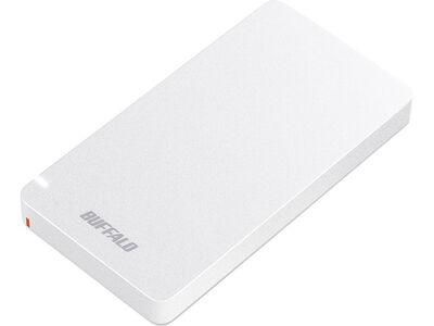 USB3.2(Gen2) ポータブルSSD Type-A&C 500GB ホワイト SSD-PGM500U3-WC