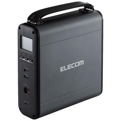 コンパクトポータブルバッテリー/222Wh/AC出力1口/DC出力×1/Type-C出力×1/USB-A出力×2/最大出力120W/ブラック DE-AC05-60900BK