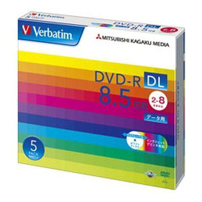 DVD-R DL 8.5GB PCデータ用 8倍速対応 5枚スリムケース入り ワイド印刷可能