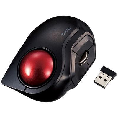トラックボールマウス/小型/人差し指/5ボタン/静音/無線/ブラック M-MT2DRSBK