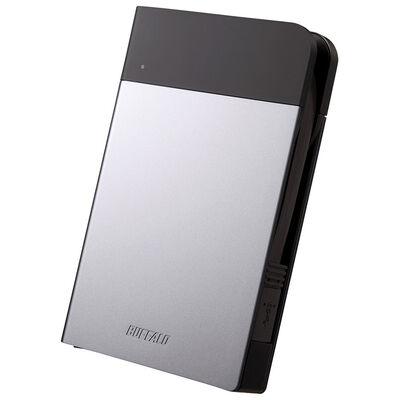 ICカード対応MILスペック 耐衝撃ボディー防雨防塵ポータブルHDD 2TB シルバー HD-PZN2.0U3-S