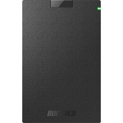 USB3.2(Gen1)対応ポータブルHDD Type-Cケーブル付 2TB ブラック HD-PGAC2U3-BA