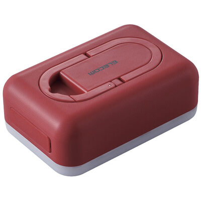 モバイルバッテリー/リチウムイオン/防災・アウトドア向け/6700mAh/2.4A/USB-A出力1ポート/LED機能付/レッド DE-M21L-6700RD