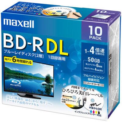 録画用 BD-R DL 標準260分 4倍速 ワイドプリンタブルホワイト 10枚パック BRV50WPE.10S