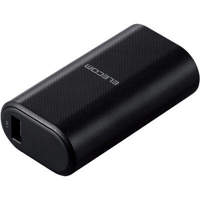 モバイルバッテリー/リチウムイオン/PD認証/18W/Type-C入出力/5000mAh/USB-A出力×1/Type-C×1/PSE適合/低電流モード/計20.5W/ブラック DE-C17L-5000BK