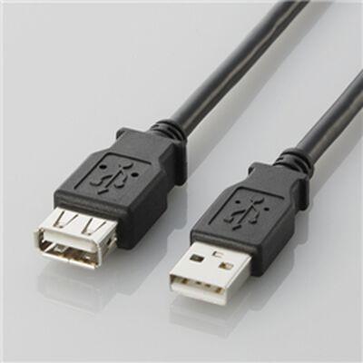USB2.0延長ケーブル(A-A延長タイプ)「U2C-Eシリーズ」(ブラック/2.0m)