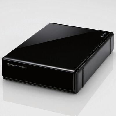USB3.0外付けハードディスク/ハードウェア暗号化/パスワード保護/8TB/ブラック ELD-EEN080UBK
