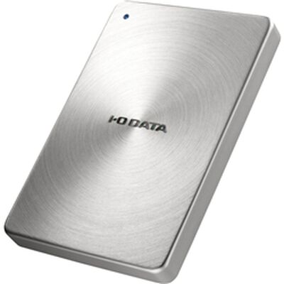 USB3.0/2.0対応 ポータブルハードディスク 「カクうす」 2.0TB シルバー HDPX-UTA2.0S