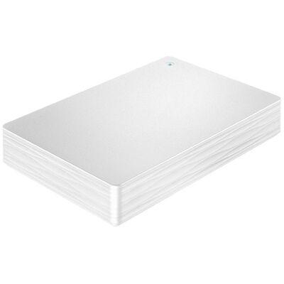 USB3.1 Gen1/2.0対応ポータブルハードディスク「カクうす Lite」 ホワイト 2TB HDPH-UT2DWR