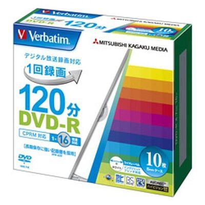 DVD-R(CPRM) 録画用 120分 1-16倍速 5mmケース10枚パック ワイド印刷対応