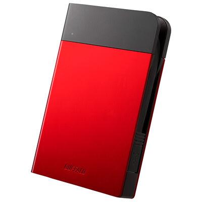 ICカード対応MILスペック 耐衝撃ボディー防雨防塵ポータブルHDD 2TB レッド HD-PZN2.0U3-R
