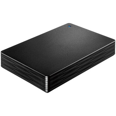USB3.1 Gen1/2.0対応ポータブルハードディスク「カクうす Lite」 ブラック 2TB HDPH-UT2DKR