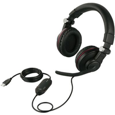 ゲーミングヘッドセット 両耳ヘッドバンド式 5.1chサラウンドシステム ブラック BSHSUH05BK