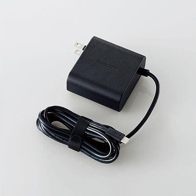 ノートPC用ACアダプター/USB Type-C/PD対応/45W/ケーブル一体型/2m/ブラック ACDC-PD0145BK