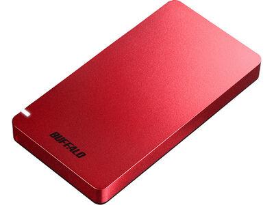 USB3.2(Gen2) ポータブルSSD Type-A&C 1.0TB レッド SSD-PGM1.0U3-RC