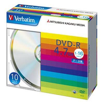 DVD-R 4.7GB PCデータ用 16倍速対応 10枚スリムケース入り シルバーディスク
