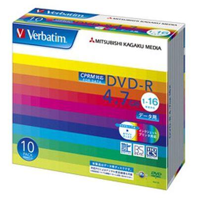DVD-R 4.7GB CPRM PCデータ用 16倍速対応 10枚スリムケース入り ワイド印刷可能 DHR47JDP10V1