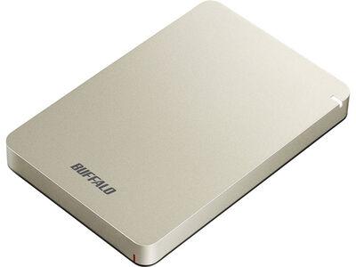USB3.1(Gen.1)対応 耐衝撃ポータブルHDD 1TB ゴールド HD-PGF1.0U3-GLA