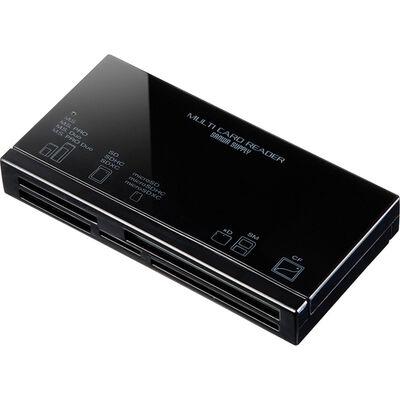 USB2.0 カードリーダー(ブラック) ADR-ML18BKN