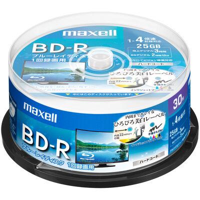 録画用 BD-R 標準130分 4倍速 ワイドプリンタブルホワイト 30枚スピンドルケース BRV25WPE.30SP