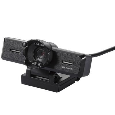 PC Webカメラ/800万画素/ステレオマイク/レンズフード付/ブラック UCAM-C980FBBK