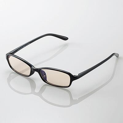 ブルーライトカット眼鏡/ブラウンレンズ/スクエアフレーム/ブラック G-BUB-S02BK