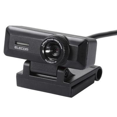 PCカメラ/500万画素/マイク内蔵/高精細ガラスレンズ/ブラック UCAM-C750FBBK