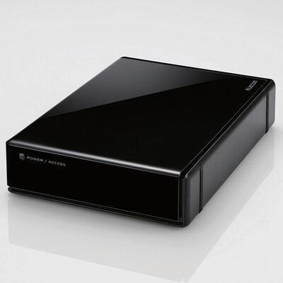 USB3.0外付けハードディスク/ハードウェア暗号化/パスワード保護/6TB/ブラック ELD-EEN060UBK