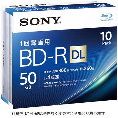 ビデオ用BD-R 追記型 片面2層50GB 4倍速 ホワイトワイドプリンタブル 10枚パック 10BNR2VJPS4