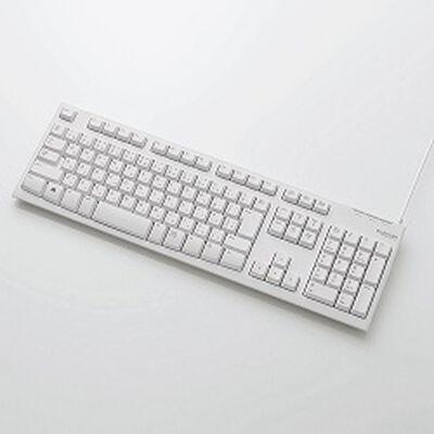 EU RoHS指令準拠 USB/PS2接続 スタンダードキーボード/メンブレン式/108キー/ホワイト TK-FCM064WH/RS
