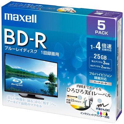 録画用 BD-R 標準130分 4倍速 ワイドプリンタブルホワイト 5枚パック BRV25WPE.5S