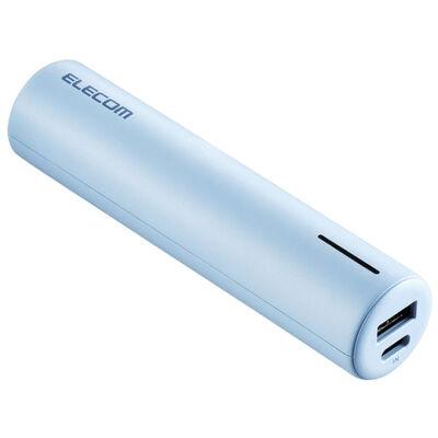 モバイルバッテリー/リチウムイオン/おまかせ充電/3350mAh/2.4A/USB A-Cケーブル付属/Type-C入力/ブルー DE-C22L-3350BU