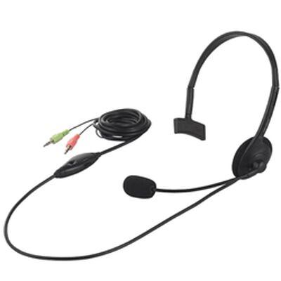 ヘッドセット 片耳ヘッドバンド式 ノイズ低減 ブラック BSHSH05BK