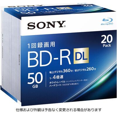 ビデオ用BD-R 追記型 片面2層50GB 4倍速 ホワイトワイドプリンタブル 20枚パック 20BNR2VJPS4