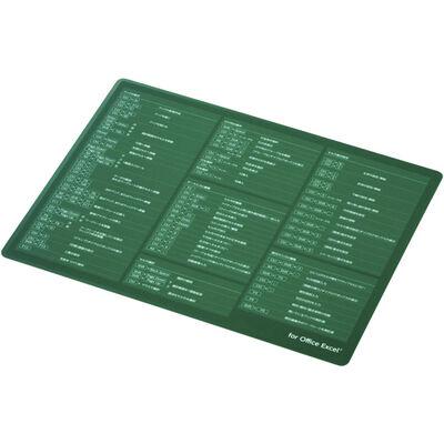 マウスパッド/入力支援/エクセル/XLサイズ/グリーン MP-SCBGE