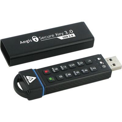 暗証番号方式USBメモリ Aegis Secure Key - USB 3.0 Flash Drive 30GB ASK3-30GB