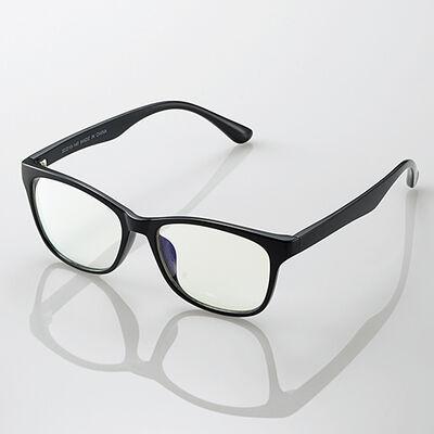 ブルーライトカット眼鏡/クリアレンズ/ウェリントンフレーム/ブラック G-BUC-W02BK