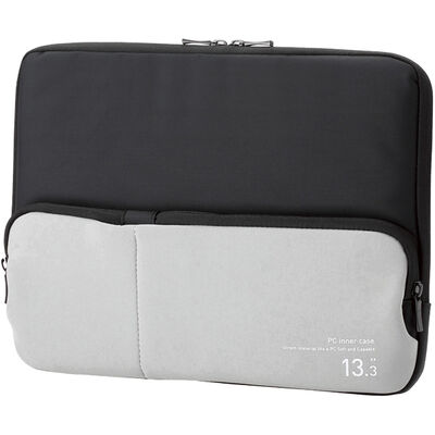 PC用インナーバッグ/ポケット付/13.3インチ/ブラック BM-IBPT13BK