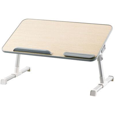折りたたみノートPCテーブル/52cm/オーク調 PCA-LTTT5230OAK