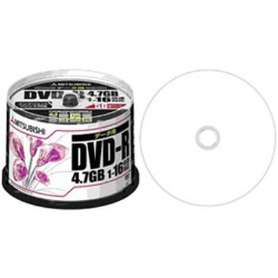 DVD-R 4.7GB PCデータ用 16倍速対応 50枚スピンドルケース ワイド印刷可能 DHR47JPP50