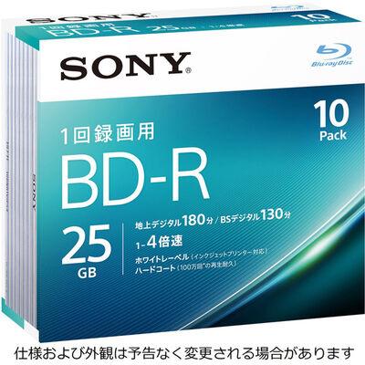 ビデオ用BD-R 追記型 片面1層25GB 4倍速 ホワイトワイドプリンタブル 10枚パック 10BNR1VJPS4