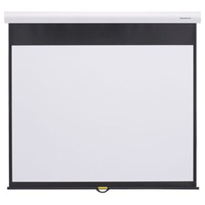 グランビュー手動スクリーン幕面ホワイトマット仕様80型ハイビジョンサイズ GSR-80HDW