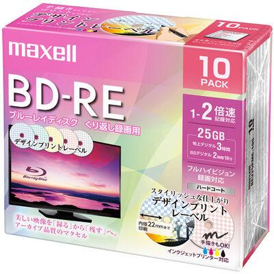 録画用 BD-RE 標準130分 2倍速 デザインプリント 10枚パック BEV25PME.10S